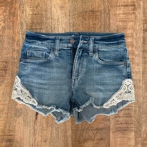 Jean Shorts with White Floral